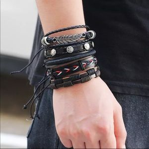 Multi layer Men's Leather Bracelets